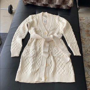 Knitted sweater cardigan